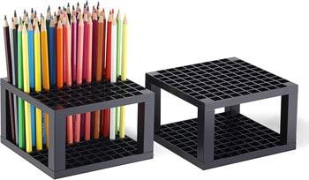 CAXXA 96 Hole Art Plastic Pencil & Brush Holder Desk Stand Organizer