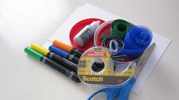 Glue tape and scissors