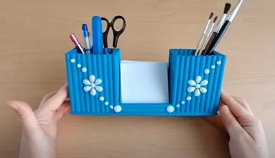 how to make a pen holder with paper