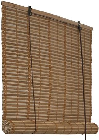 ALEKO BBL36X72BR Light Brown Bamboo Roman Wooden Roll Up Blinds
