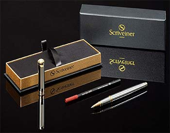 Silver Chrome Rollerball Pen Scriveiner