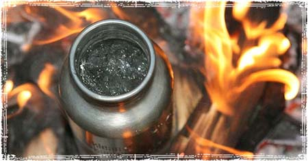 boiling charcoal