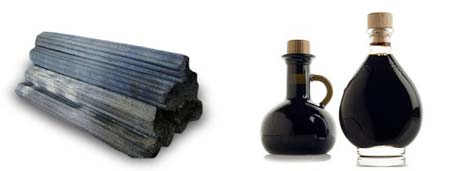 charcoal and vinegar