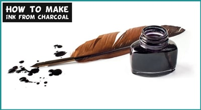 how to make ink from charcoal