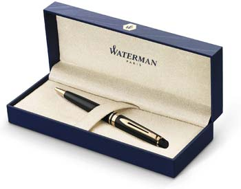 Waterman Expert Black Ballpoint Pen