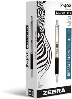 Zebra Pen F402 Retractable Ballpoint Pen