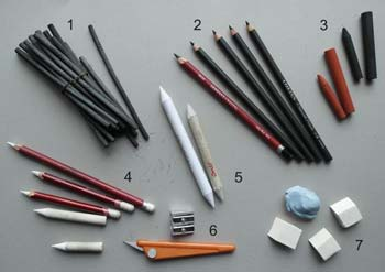 Ways to sharpen charcoal pencils