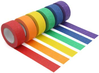 Colored Masking Tape Colored Painters Tape for Arts & Crafts