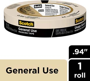 Scotch General Use Masking Tape for Basic Painting