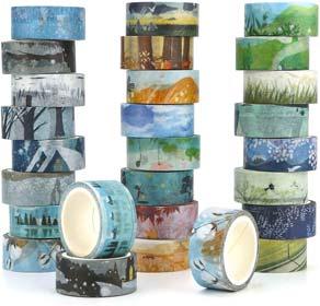 Washi Masking Tape Set of 24 Decorative Masking Tape Collection