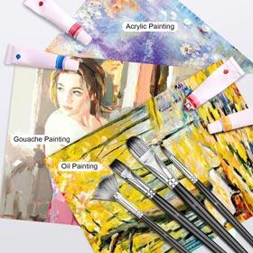 Adkwse Paint Brush Set for Acrylic Oil Watercolor Canvas Gouache