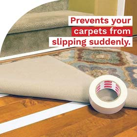 XFasten Double Sided Carpet Tape for Area Rugs and Carpets