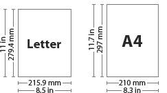 letter size vs a4 size