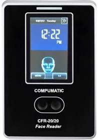 Compumatic CFR-20 or 20 v2 TOUCHLESS Biometric Face Recognition Time Clock System