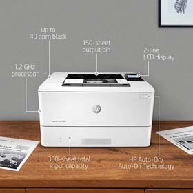 HP LaserJet Pro M404n Laser Printer with Built-in Ethernet & Security Features