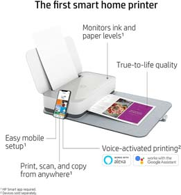 HP Tango X Smart Wireless Printer with Indigo Linen cover – Mobile Remote Print