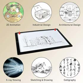 A4 Light Board Portable Tracing Light Pad