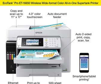 Epson EcoTank Pro ET-16650 Wireless Color Printer