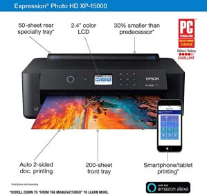 Epson Expression Photo HD XP-15000 Wireless Color Wide-Format Printer