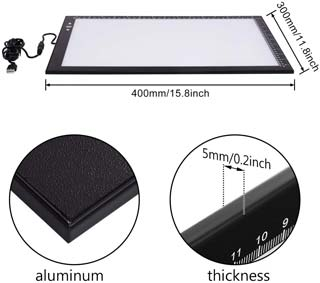 HSK B4 Light Pad Light Box 40 and 30 Centimeter Ultra Thin