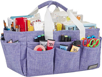 HOMEST Craft Organizer Tote Bag with Multiple Pockets