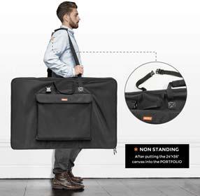 Nicpro Art Portfolio Bag 24 x 36 Inches Waterproof Nylon Artist Carrying Bag