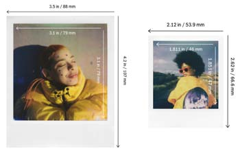Size of a polaroid picture