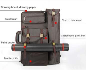Tanchen 4K Waterproof Artist Portfolio Carry Shoulder Bag